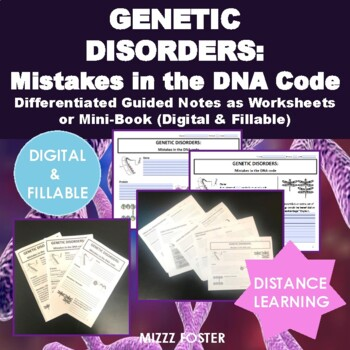 Genetic Disorders: Mistakes in the DNA code, DNA mutations