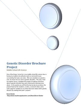 Genetic Dissorders Brochure Project