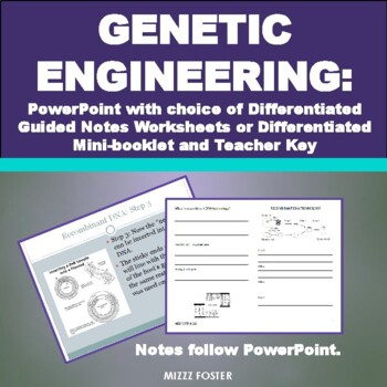 Genetic Engineering Bundle: Power Point, Worksheets and Answer Key