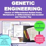 Genetic Engineering (Technology) Worksheets or Mini-book (Digital & Printable)