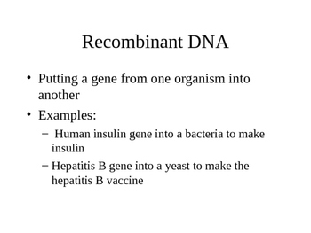 Genetic Engineering and Restriction Enzymes Introduction powerpoint