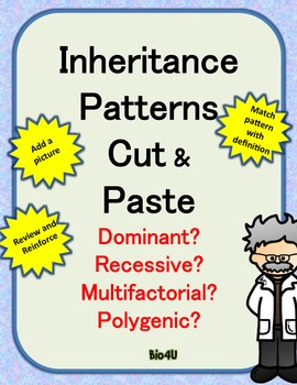 Genetic Inheritance Patterns Cut and Paste Activity