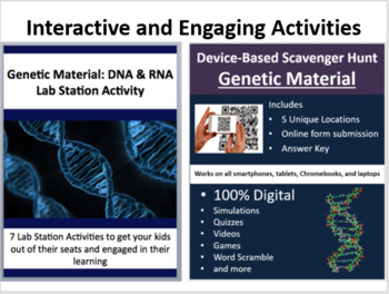 Genetic Material - DNA and RNA - 5E Lesson Bundle