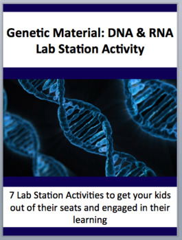 Genetic Material: DNA and RNA Overview - 7 Engaging Lab Stations