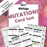 Genetic Mutation Card Sort Activity -  Easy Prep w/ BONUS