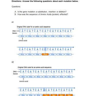 Genetic Mutations -- PowerPoint, Notes, Review Worksheeets + Homework
