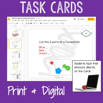 Genetics Unit PowerPoint, Notes, and Task Card Bundle