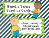 Genetic Terms Practice Cards