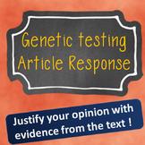 Genetic Testing Article Response