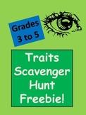 Genetic Traits Scavenger Hunt, Grades 5-7