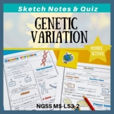 Genetic Variation Doodle Sketch Notes & Quiz