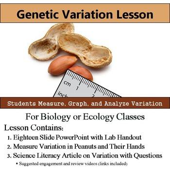 Genetic Variation Lab - Measure Variation - Literacy Artic