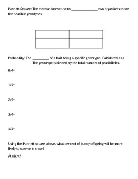Genetic Vocabulary Guided Notes