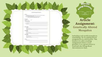 Genetically Altered Mosquitoes Essay