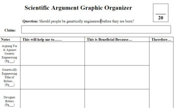 Genetics Argumentation Resources