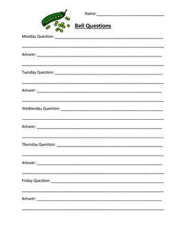 Genetics Bell Questions Sheet