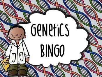 Genetics Bingo Life Science DNA Heredity