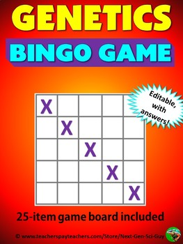 Genetics Bingo Review Game