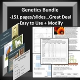 Genetics Bundle -- Terminology, Punnet Squares, Mendel, Co