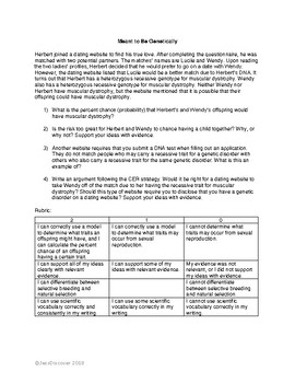 Genetics CER Constructed Response #2