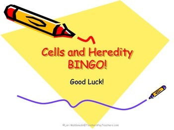 Genetics: Cells and Heredity Bingo