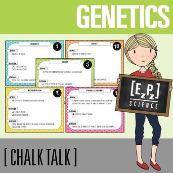 Genetics Chalk Talk Task Cards