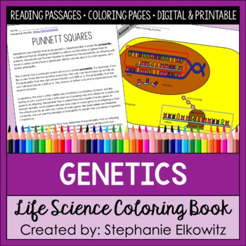 Genetics Coloring And Reading Unit