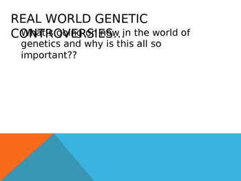 Genetics Controversies Powerpoint
