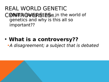 Genetics Controversies Powerpoint