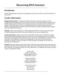Genetics DNA Structure Laboratory Lesson Plan