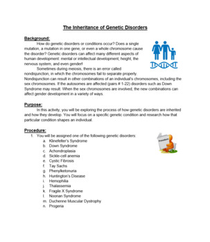 Genetics: Differentiated Genetic Disorder/Mutations Project- NGSS Inquiry