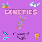 Genetics Activity Crossword Puzzle (21 clues) ONLINE Answer Key Included