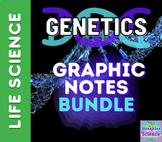 BIOLOGY: Genetics Graphic Notes BUNDLE! All seven lessons!