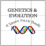 Genetics & Evolution: 9 Square Puzzle Card Sort Bundle