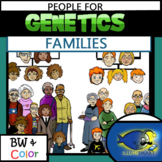 Genetics Family and Heredity PEOPLE 100 Pc. Clip-Art Set! Great For NGSS!