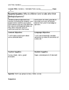 Genetics - Heritable Traits Survey