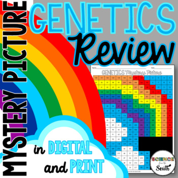 Genetics Hidden Mystery Picture for Review or Assessment