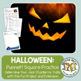 Punnett Squares - Fall Halloween Jack o' All Traits Genetics Activity