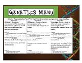 Genetics Menu
