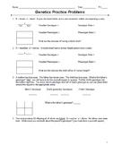 Genetics Monohybrid Punnett Square Practice Packet (24 Problems)