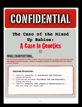 Genetics Mystery/Performance Task: The Case of the Mixed Up Babies!