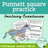 Genetics- Punnett Square Practice Worksheet - Fantasy Creatures