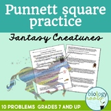 Genetics- Punnett Square Practice Worksheet - Fantasy Creatures