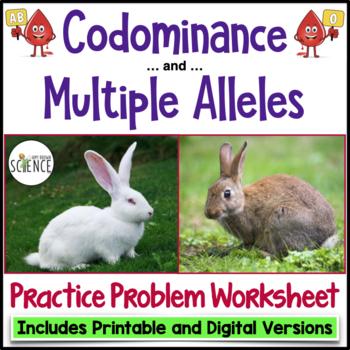 Genetics Practice Problems: Codominance and Multiple Alleles | TpT