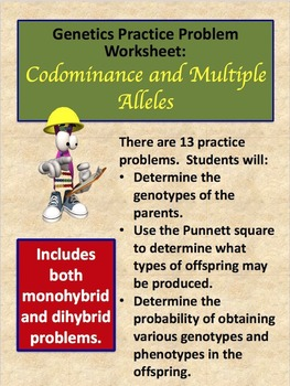 Genetics Practice Problems: Codominance and Multiple Alleles