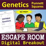 Genetics Punnett Squares Escape Room - Digital Breakout - NO PREP!
