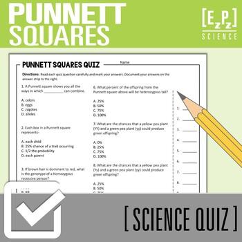 Genetics Quiz- Adaptations and Punnett Squares