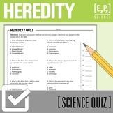 Genetics Quiz- Heredity