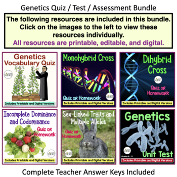 Genetics Quizzes and Tests