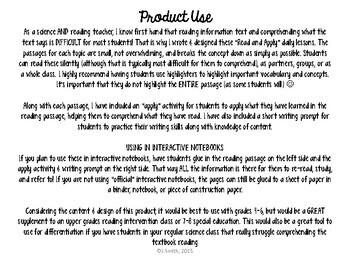 Genetics Read and Apply Interactive Notebook BUNDLE